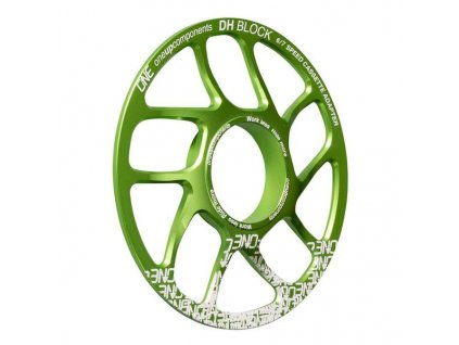 OneUp Components DH Block Green Back Iso grande