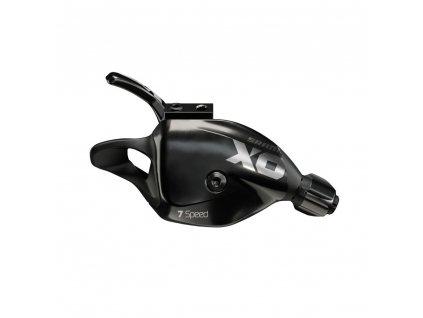 Řadící páčka SRAM X01DH, 7rychl., zadní včetně objímky, černá, A2