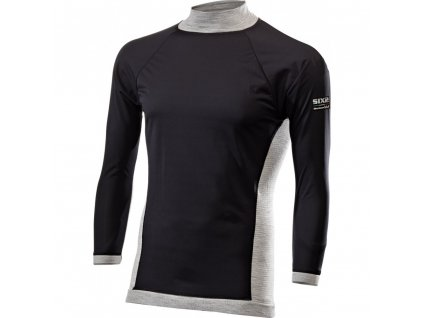 SIXS TS4 Merinos tričko s rolákem a dl. rukávem, WindShell