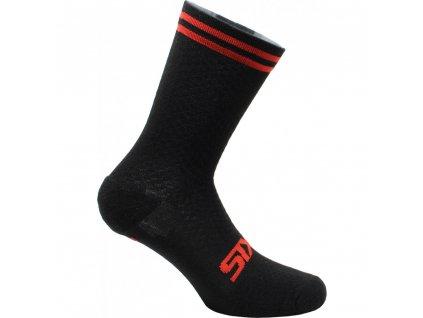 SIXS Merinos ponožky černá/červená I