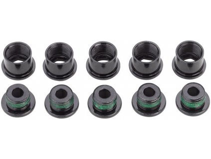 CRANK CHAINRING BOLT KIT 5 STEEL/BLACK