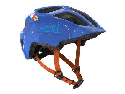Dětská helma SCOTT SPUNTO KID, blue/orange  Dětská helma SCOTT SPUNTO KID, blue/orange