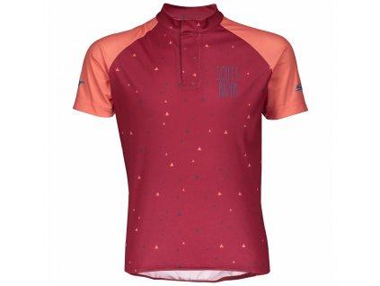 Dětský cyklistický dres SCOTT JR RC TEAM, růžová  Dětský cyklistický dres SCOTT JR RC TEAM, růžová