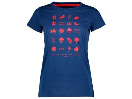 Dámské triko SCOTT 40 casual, pacific blue  Dámské triko SCOTT 40 casual, pacific blue