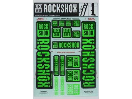 Nálepky RockShox - 35mm DUAL CROWN NE05 GREEN MY18 -BOXXER/DOMAIN DUAL CROWN