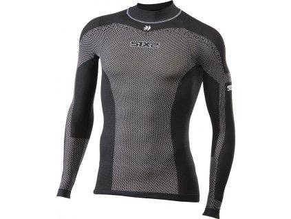 SIXS TS3L BT funkční ultra odlehčené triko s dl. rukávem a rolákem černá