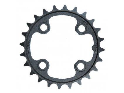 Chain Ring MTB 24T B V1 64 Alum 3mm Blast Black 9 & 10 speed