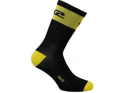 SIXS SHORT LOGO MTB ponožky černá/žlutá I