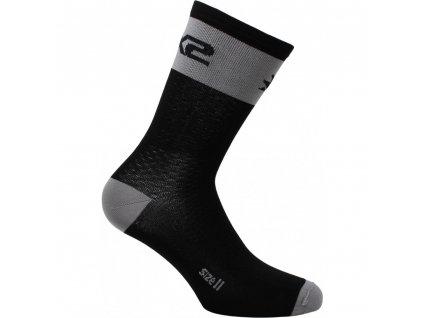 SIXS SHORT LOGO MTB ponožky černá/šedá I