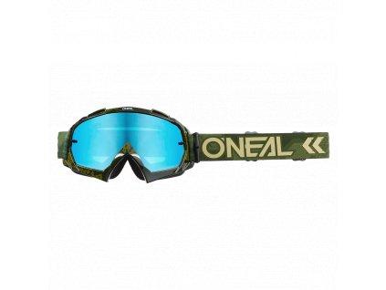 Brýle O´Neal B-10 CAMO zelená, radium modrá