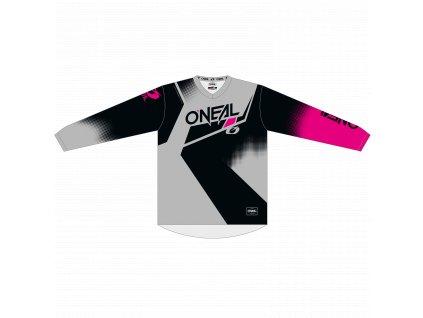 Dámský dres O´Neal Element RACEWEAR černá/šedá/růžová