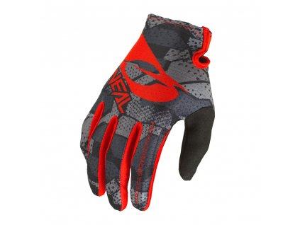 Dětské rukavice O´Neal Matrix CAMO černá/červená