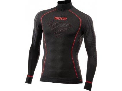 SIXS TS13W CU funkční zimní tričko s dl. rukávem, rolákem a zipem