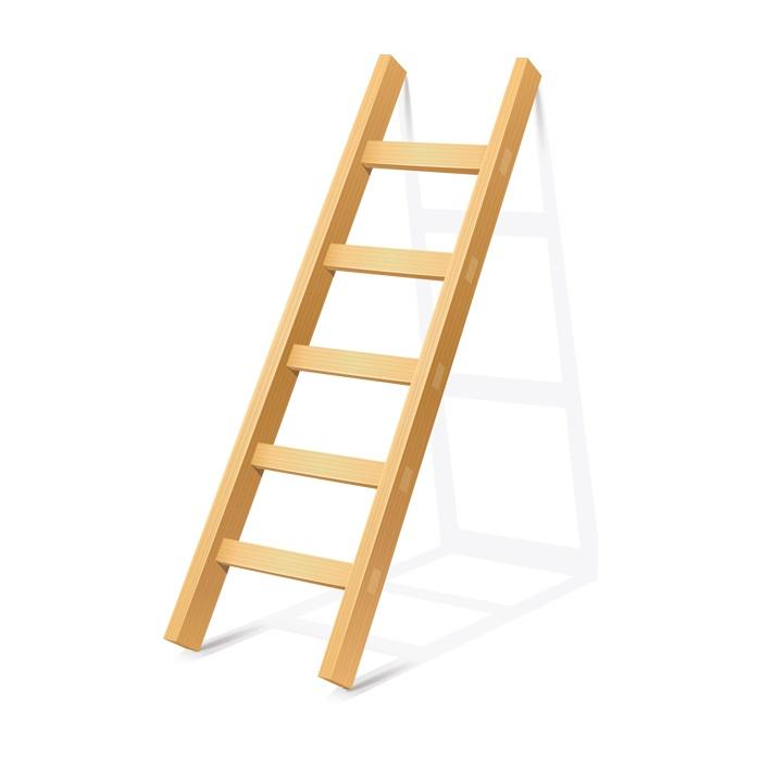 Dřevěné žebříky - jednodílné opěrné