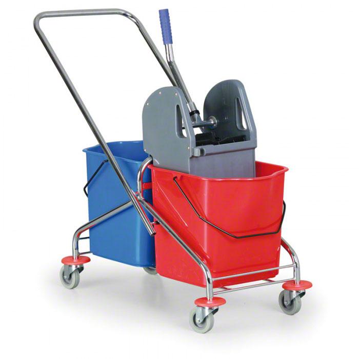 Úklidové vozíky s kbelíky