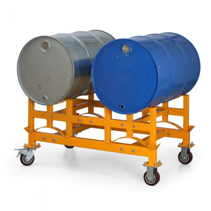 Regály na chemikálie a palety na sudy
