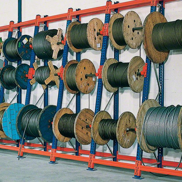 Regály na kabelové bubny