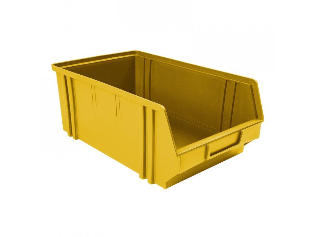 Plastové boxy, 305 x 480 x 177 mm, žluté