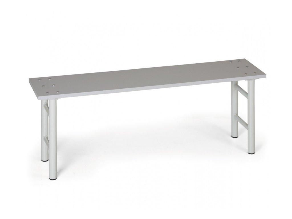 Šatní lavička, sedák - lamino, nohy šedé, 1500 mm