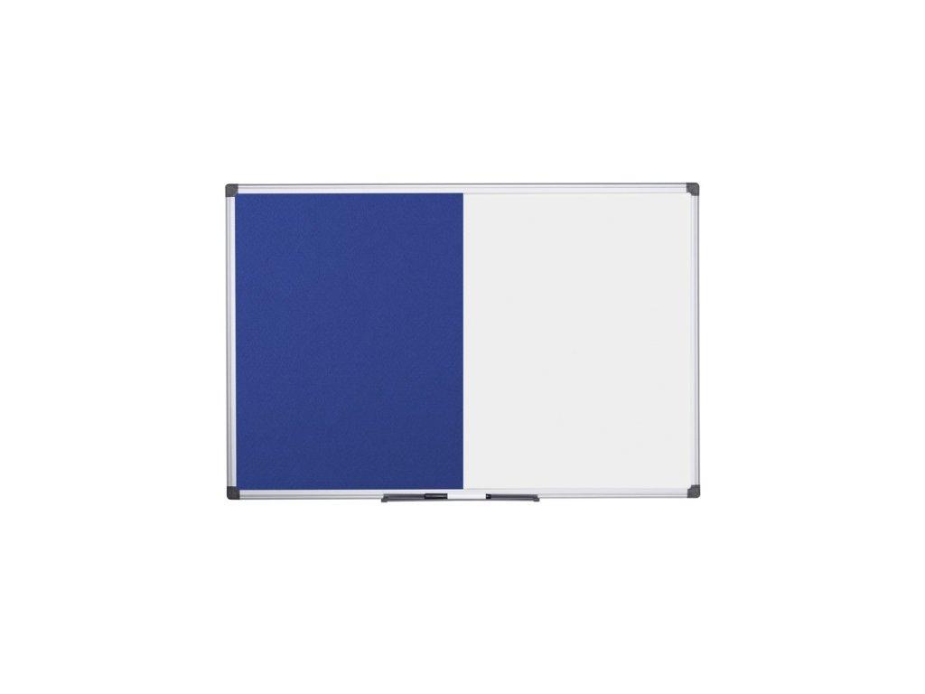 Popisovací magnetická tabule a textilní nástěnka, 1200 x 900 mm