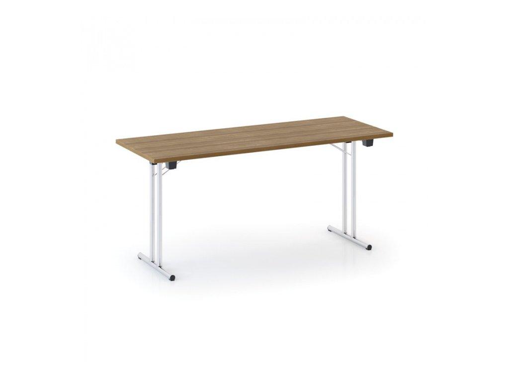 Skládací konferenční stůl FOLD 1600 x 800 mm, ořech
