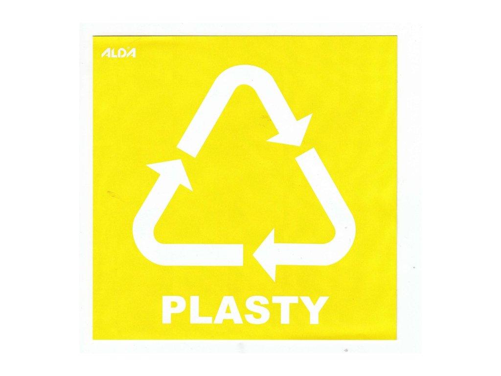 Samolepky - tříděný odpad, plast - žlutá, CZ