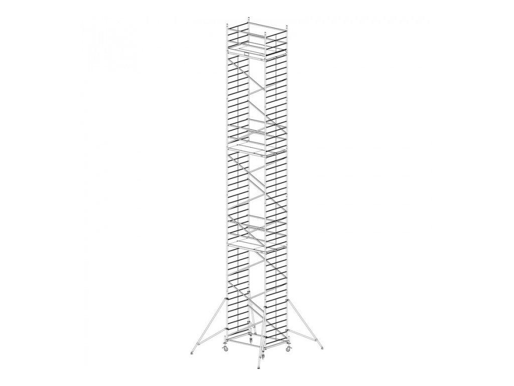 Hliníkové pojízdné lešení Protec XXL 14,3 m