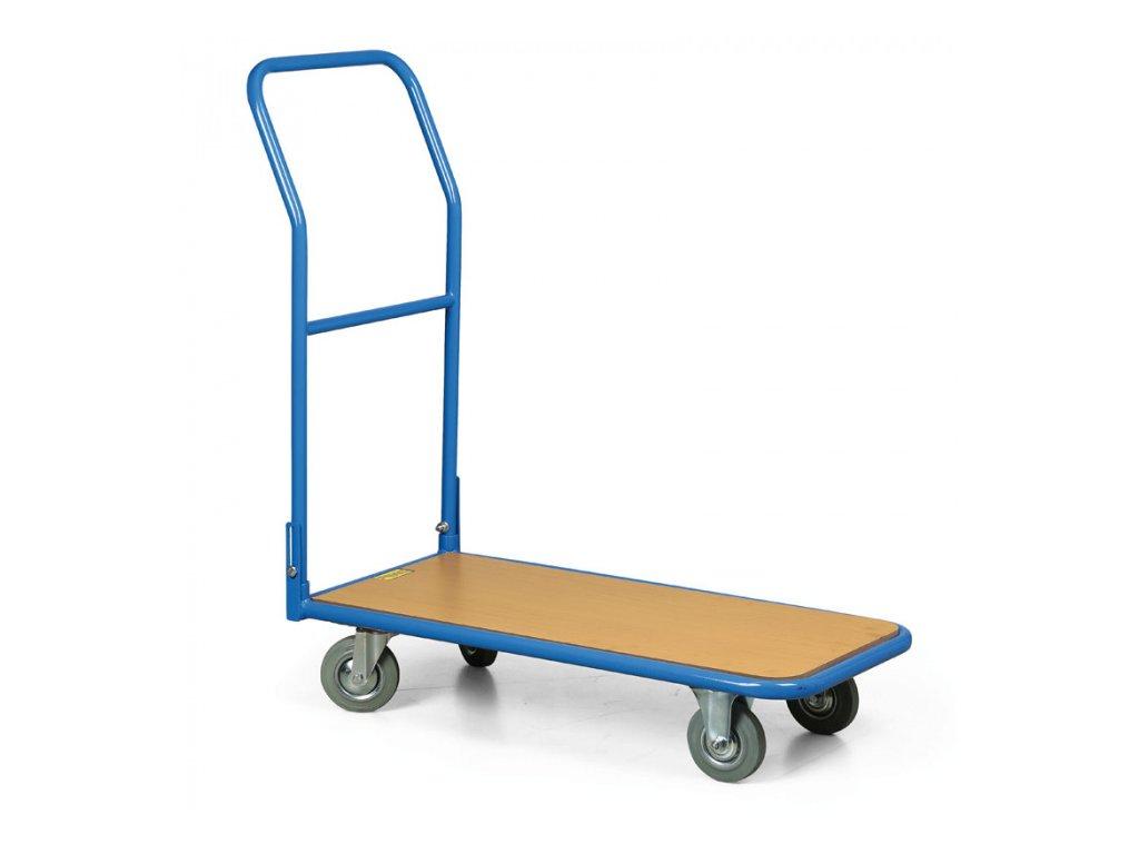 Plošinový vozík se sklopným madlem