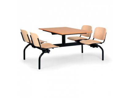 Jídelní set - sedadla buk, deska třešeň