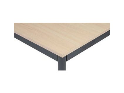Stůl do jídelny, tmavěšedá konstrukce, 1600 x 800 mm, bříza