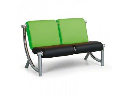 Sedací souprava Jazzy II 2-místná, zelená/černá