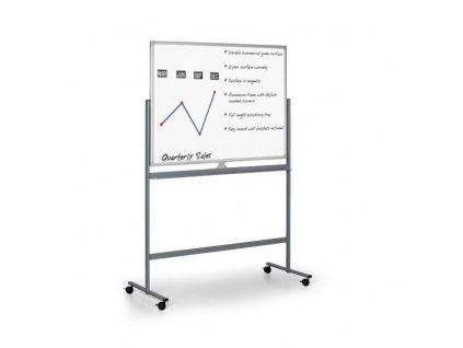 Mobilní oboustranná magnetická tabule, 1500 x 1200 mm