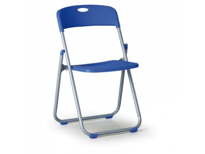 Skládací židle s kovovou lakovanou konstrukcí CLACK, modrá