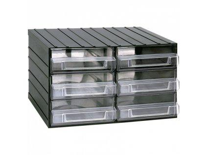 Modulová skříňka se zásuvkami, 382 x 290 x 230 mm, 6 zásuvek