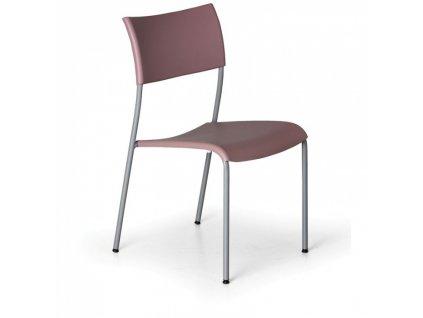 Jídelní židle Forever, starorůžová