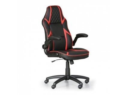Kancelářská židle Game, černá/červená