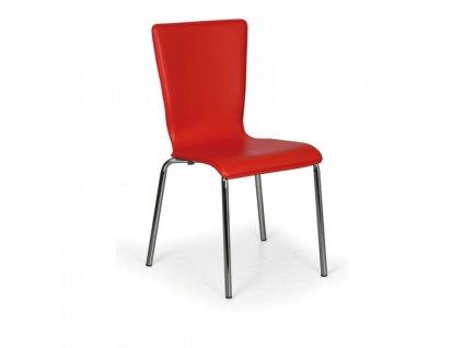Jídelní židle Caprio, červená, balení 4ks