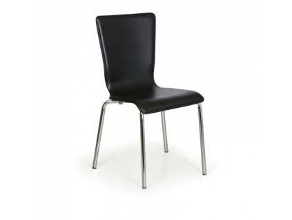Jídelní židle Caprio, černá, balení 4 ks