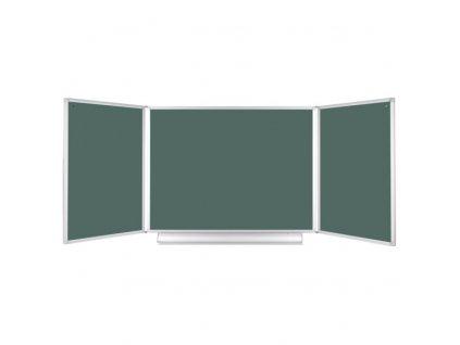 Rozevírací zelená tabule pro popis křídou, 3600 x 1200 mm