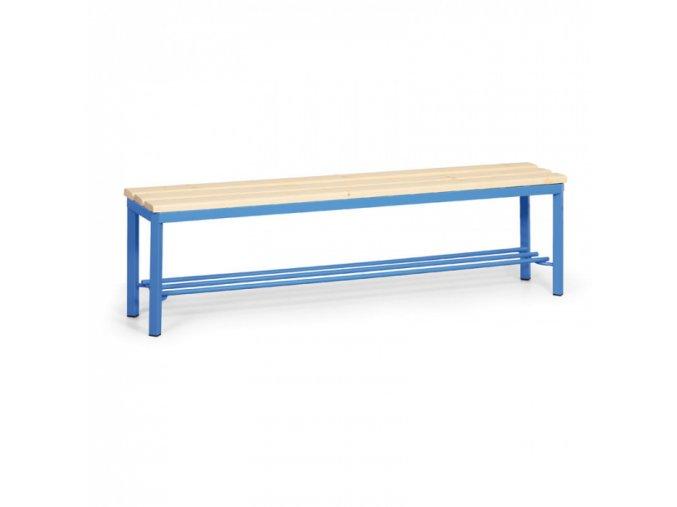 Šatní lavička s roštem, sedák - latě, délka 1500 mm
