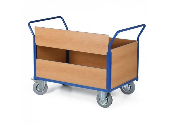 Plošinový vozík se 4 výplněmi, plošina 1200x800 mm, 500 kg