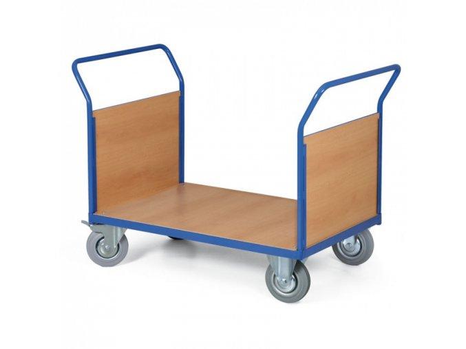 Plošinový vozík - 2 madla s výplní, plošina 1200x800 mm, 500 kg