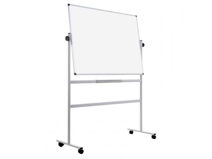 Mobilní otočná oboustranná magnetická tabule, 120x90 cm