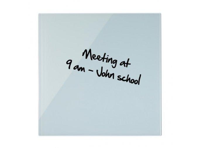 Skleněná magnetická tabule, bílá, 48x48 cm