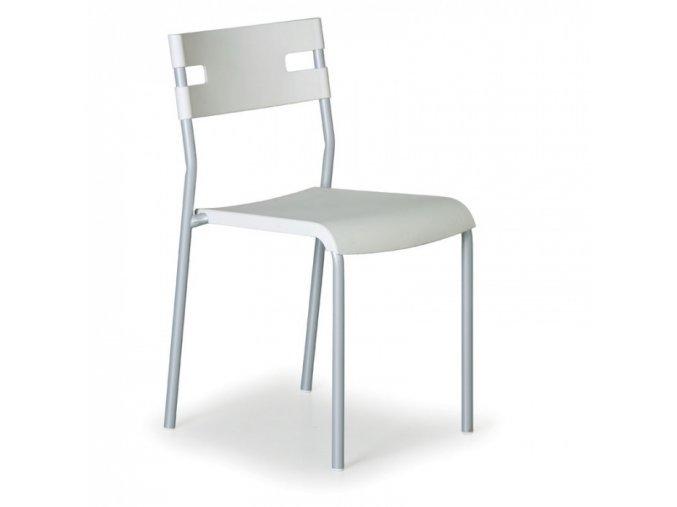Plastová jídelní židle LINDY, bílá