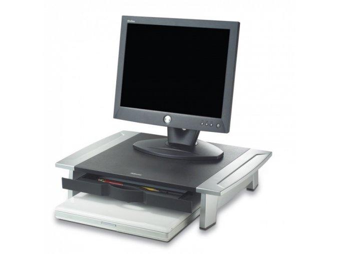Podstavec pod monitor se zásuvkou na dokumenty