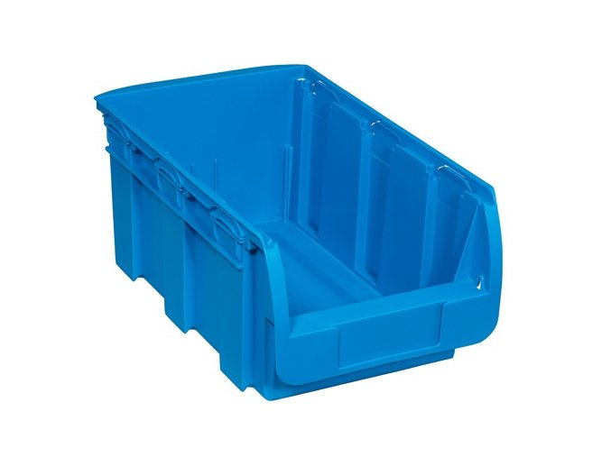 Plastový box COMPACT, 210 x 350 x 150 mm, modrý