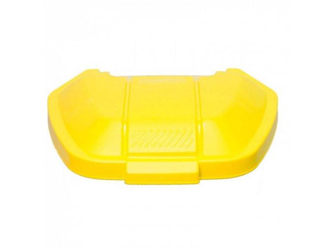 Víko pro mobilní odpadkový koš 100 l, žluté