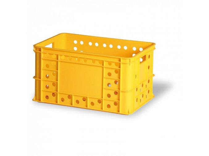 Plastová přepravka na pečivo, typ V 324-30, 600 x 400 x 324 mm