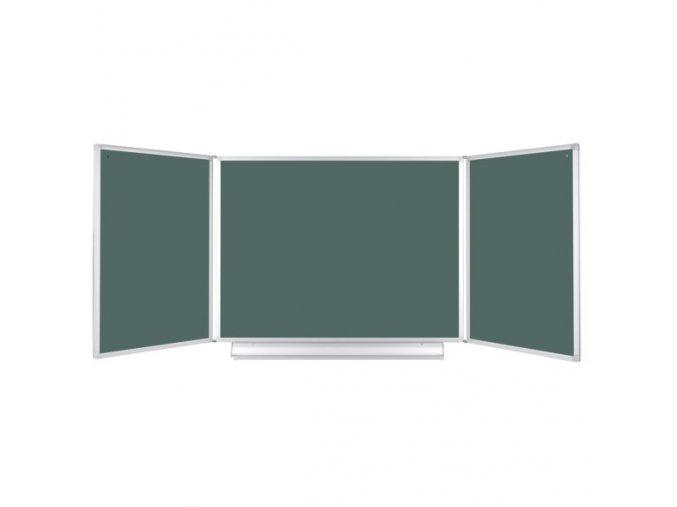 Rozevírací zelená tabule pro popis křídou, 360x120 cm